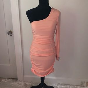 One Shoulder - Sherbert Colored Bodycon Dress